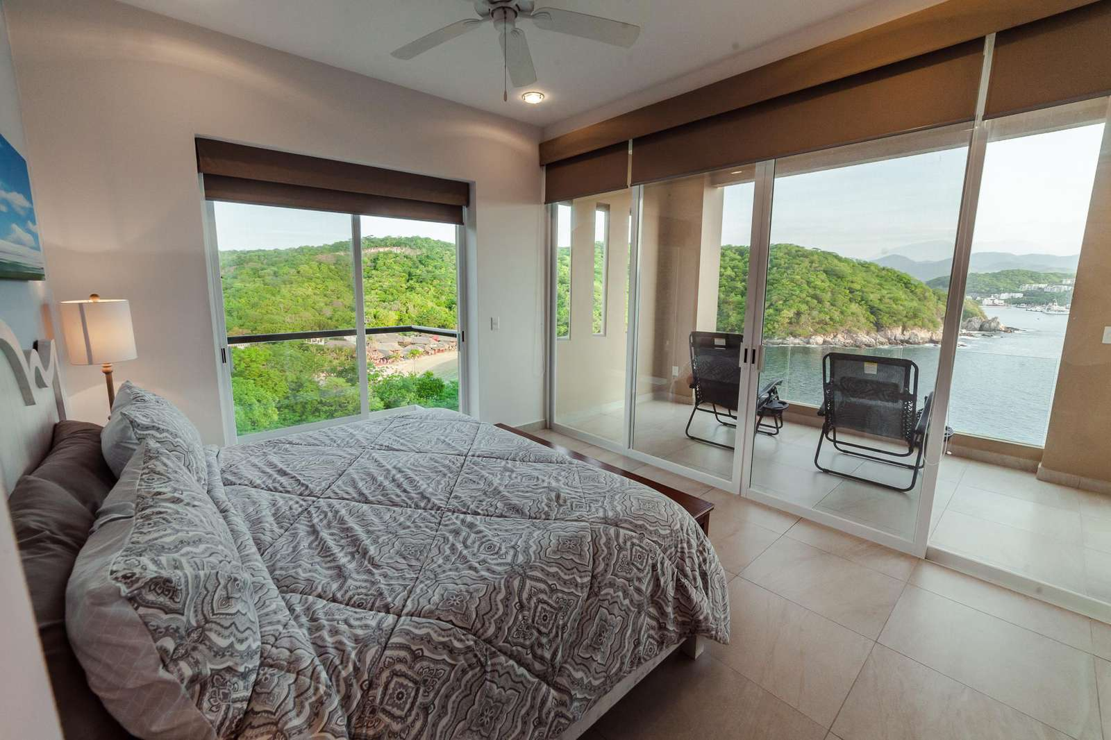 Terrace access from the master bedroom with dramatic ocean views