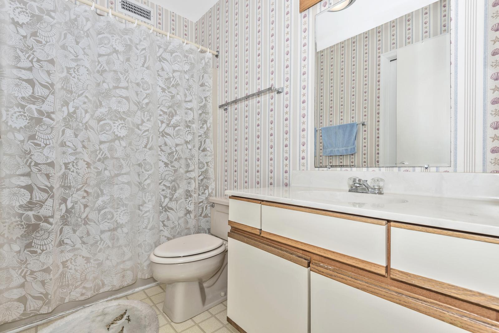 Full bath with tub