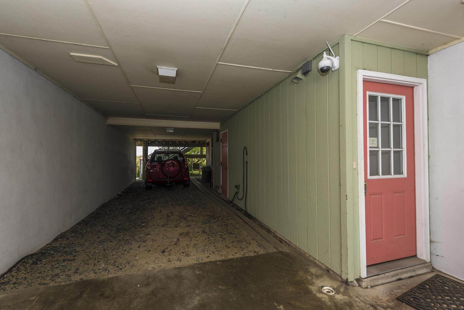 Parking underneath unit