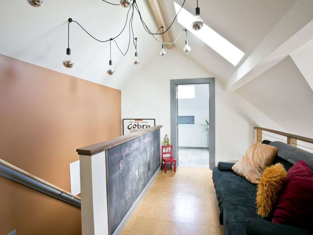 Loft space on the second floor, with a futon that can be used as additional sleeping area.
