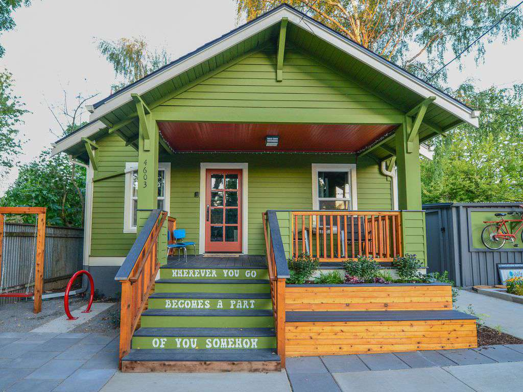 Front Break, is a fully restored 1920's bungalow, that is super inviting!