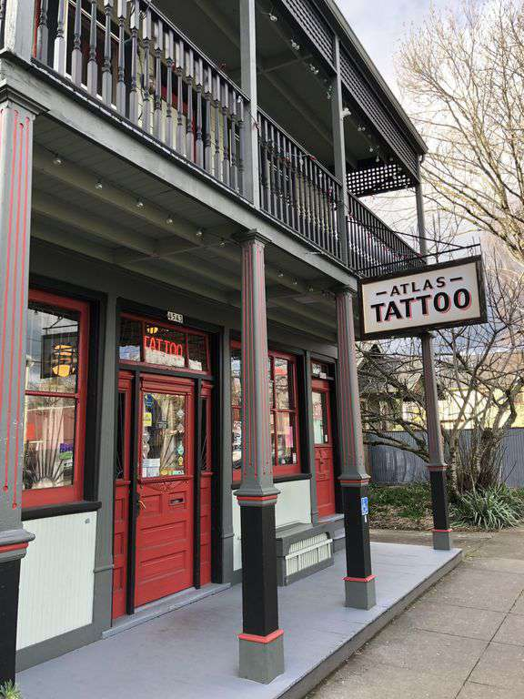 Next door is one of Pdx's finest tattoo parlors, Atlas Tattoo!
