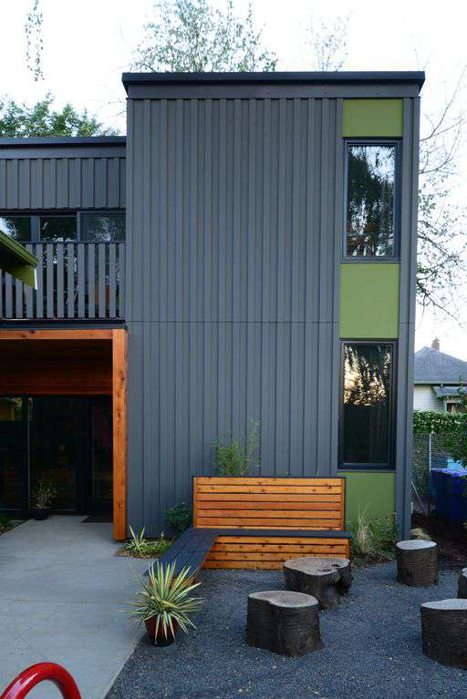 Eco built using local materials, wool insulation, high efficiency heat pumps.