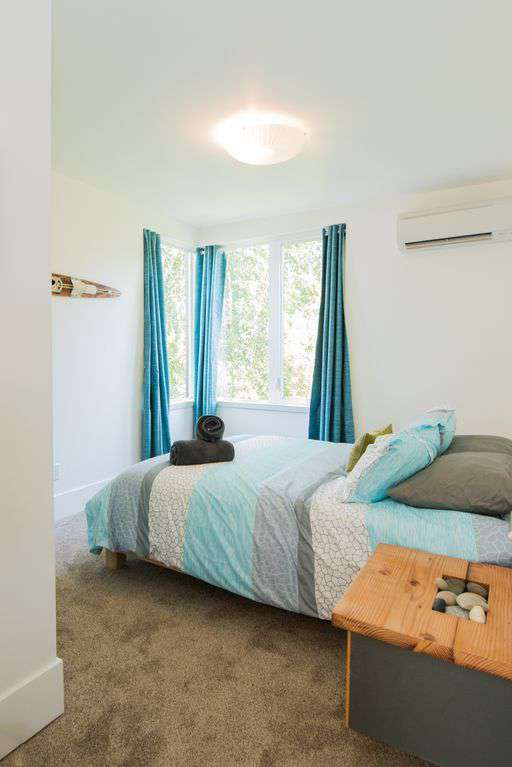 All of the bedrooms have high end mattresses, comfortable linens and pillows. Natural light as well as bedside lamps.
