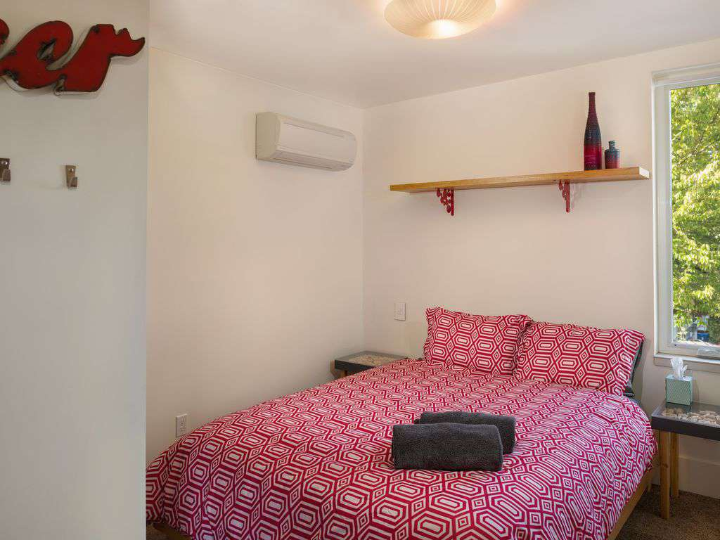 The Beer & Wine room has a queen bed- all have double closets too.