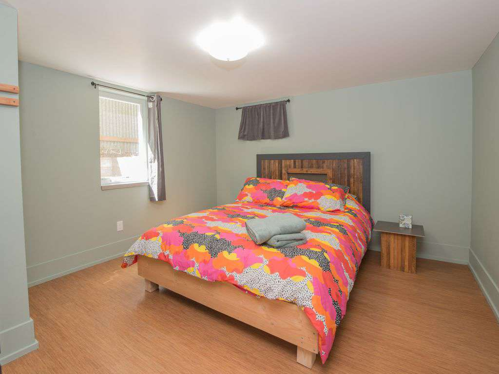 The 4th bedroom is in the lower level, queen bed. Beds are new and super comfy!