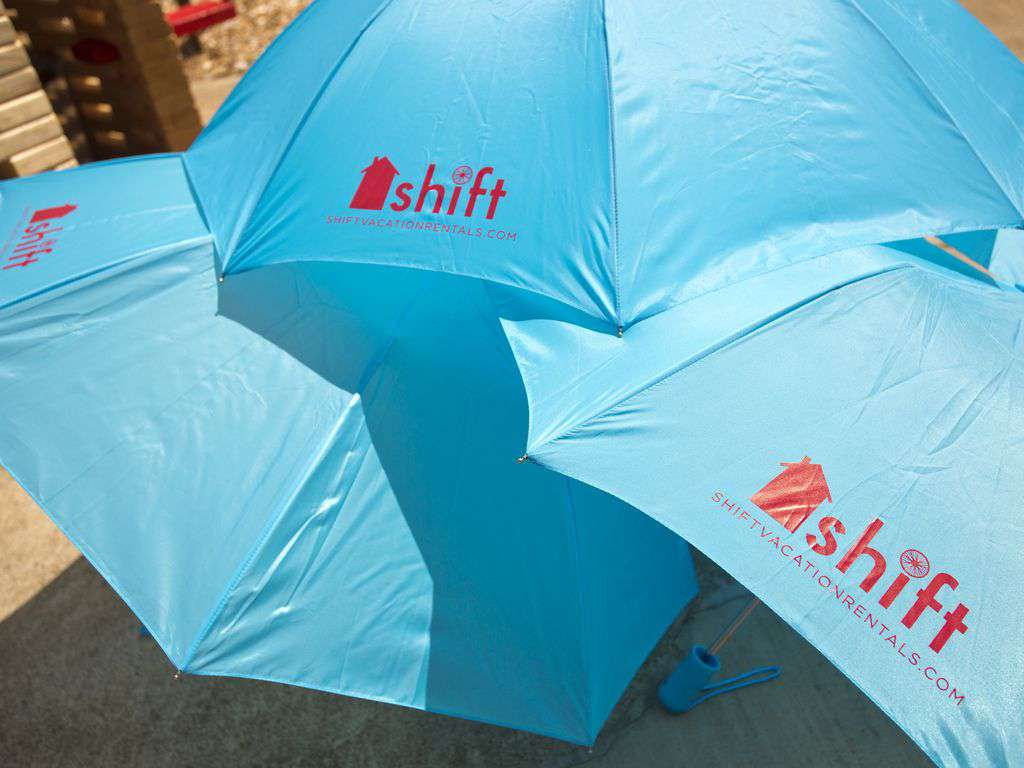 Umbrellas are provided for your stay for rain or sun!