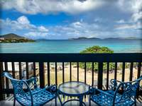 Spacious and secluded private balcony overlooking Sapphire Beach! thumb