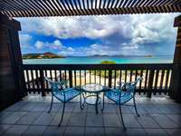 The private balcony off the master bedroom overlooking the beach - It doesn't get any better than this! thumb