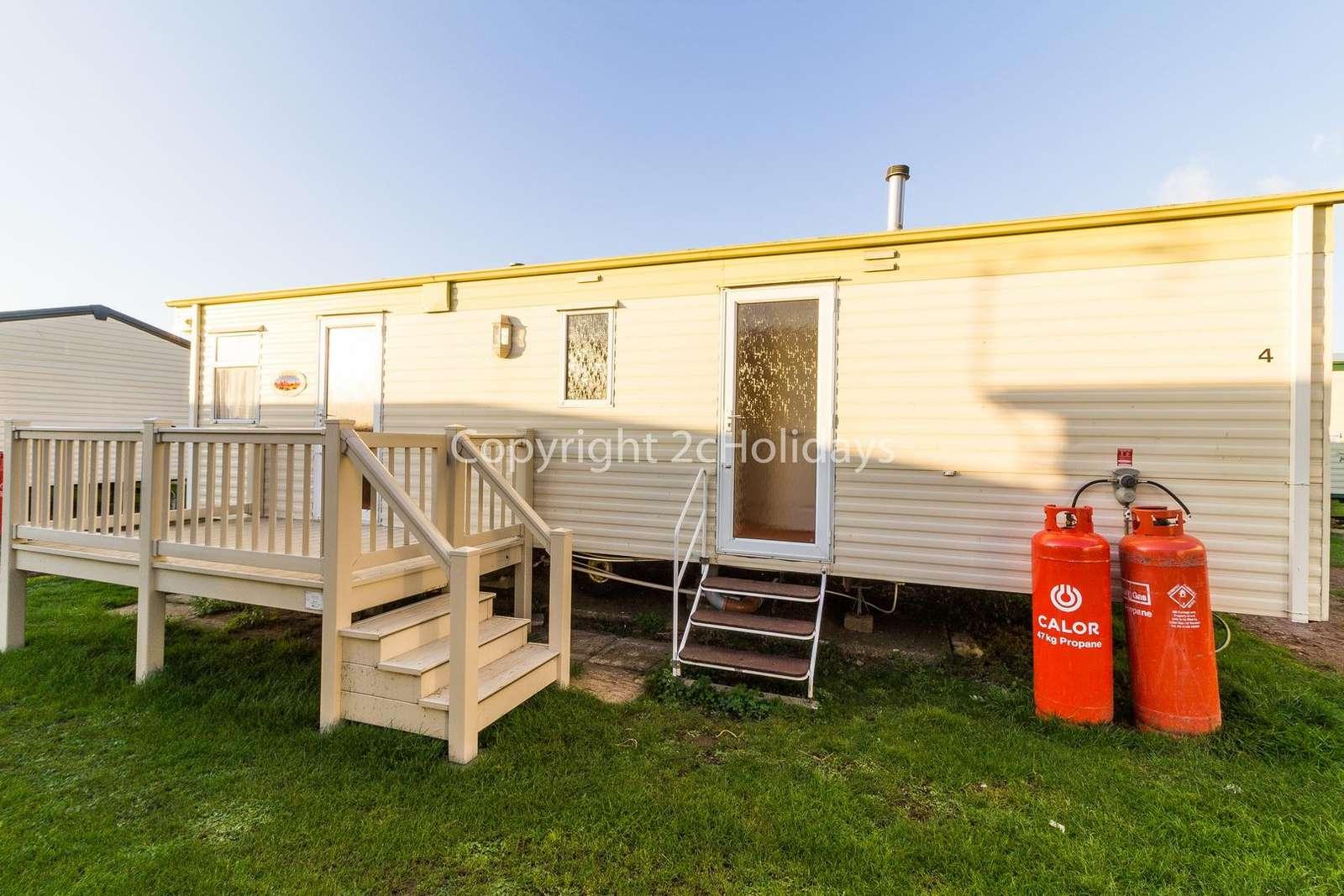 Caravan for hire at Heacham.
