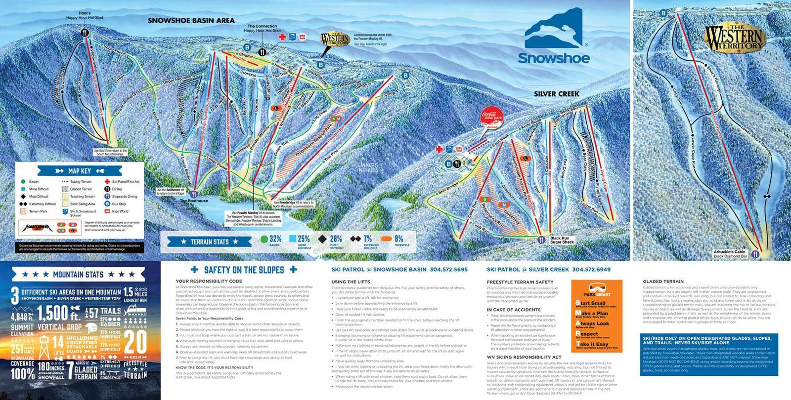 Mountain Map slopes