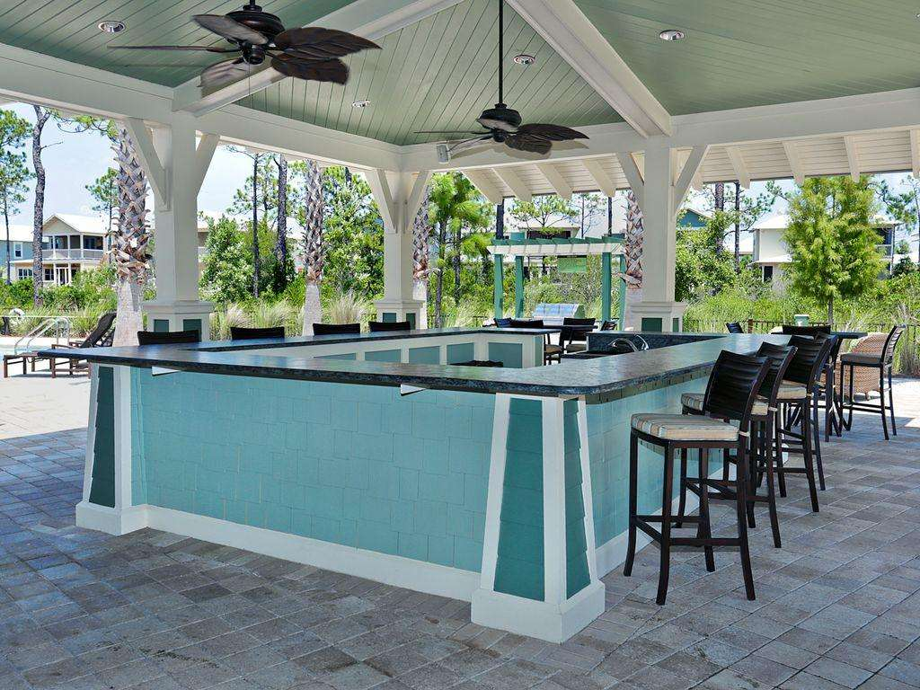 poolside entertainment area