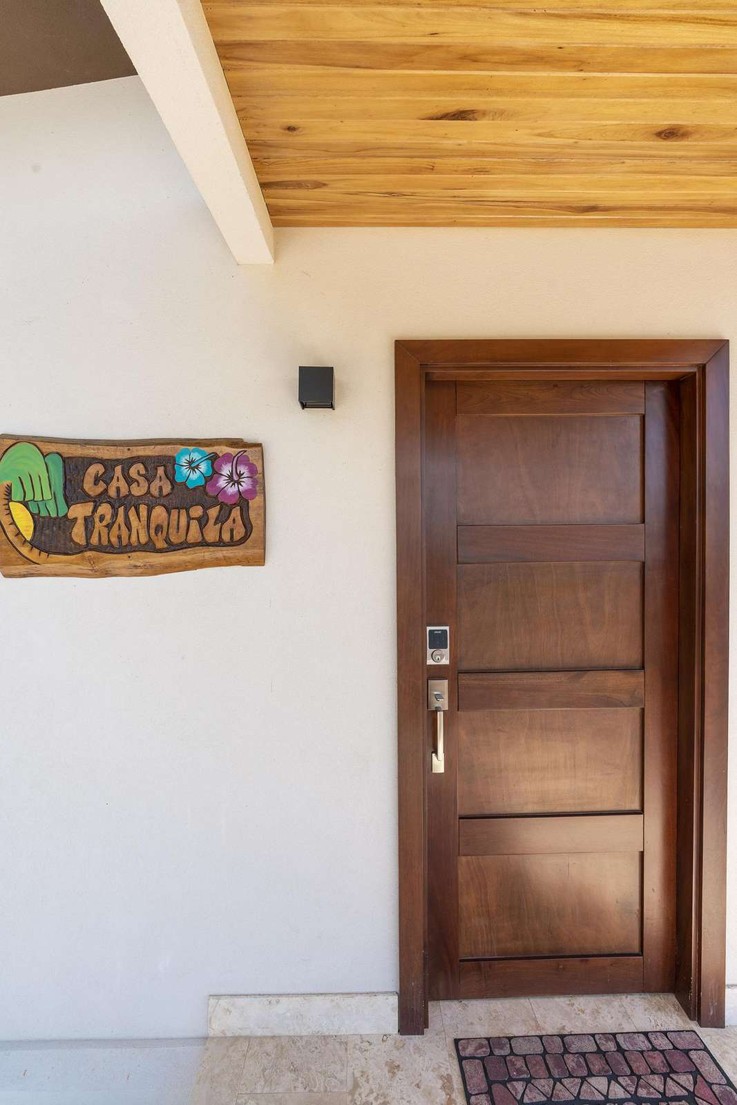 Main entrance at Casa Tranquila