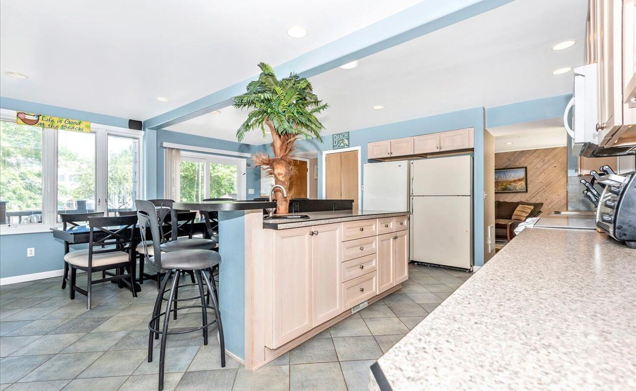 A wealth of counter space in this beautiful kitchen!