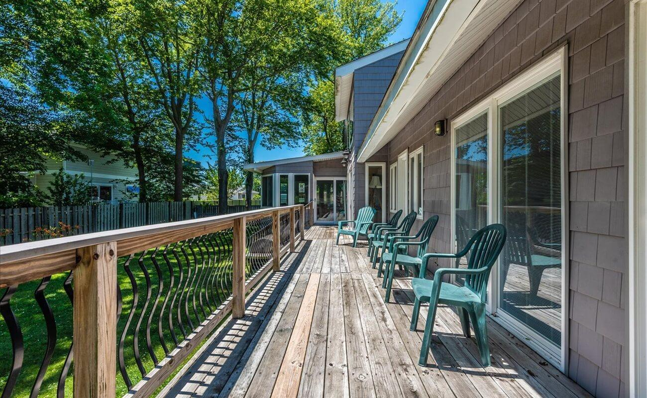 The back deck area, perfect for relaxing with family and friends.