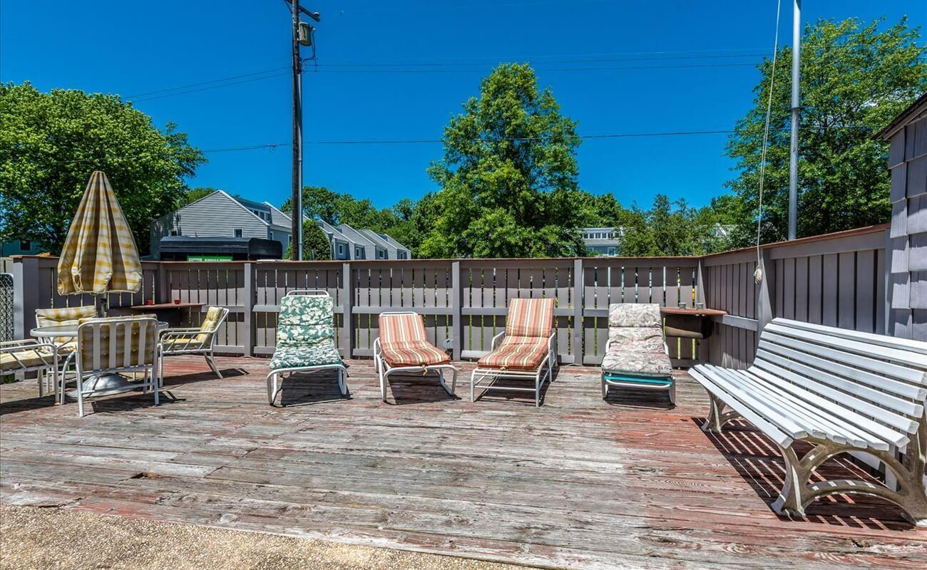 Catch some rays with privacy in our fenced patio area!