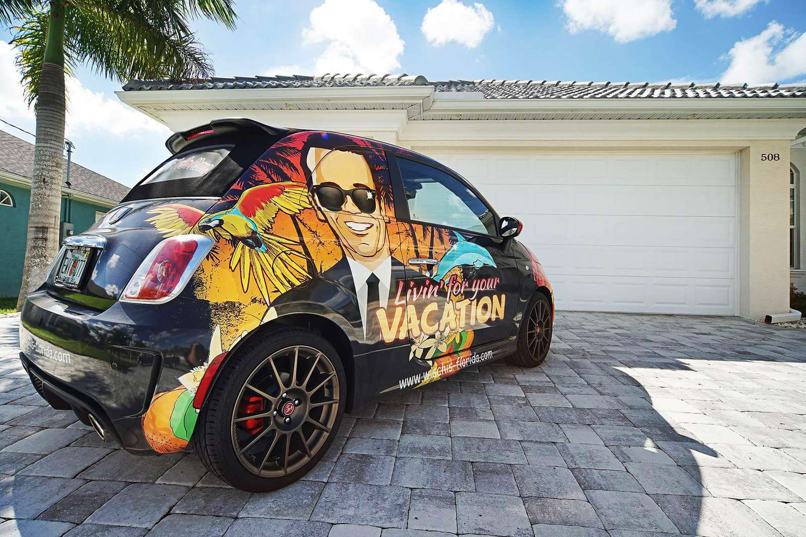 Wischis Florida Home - Living' for your vacation Fiat 500
