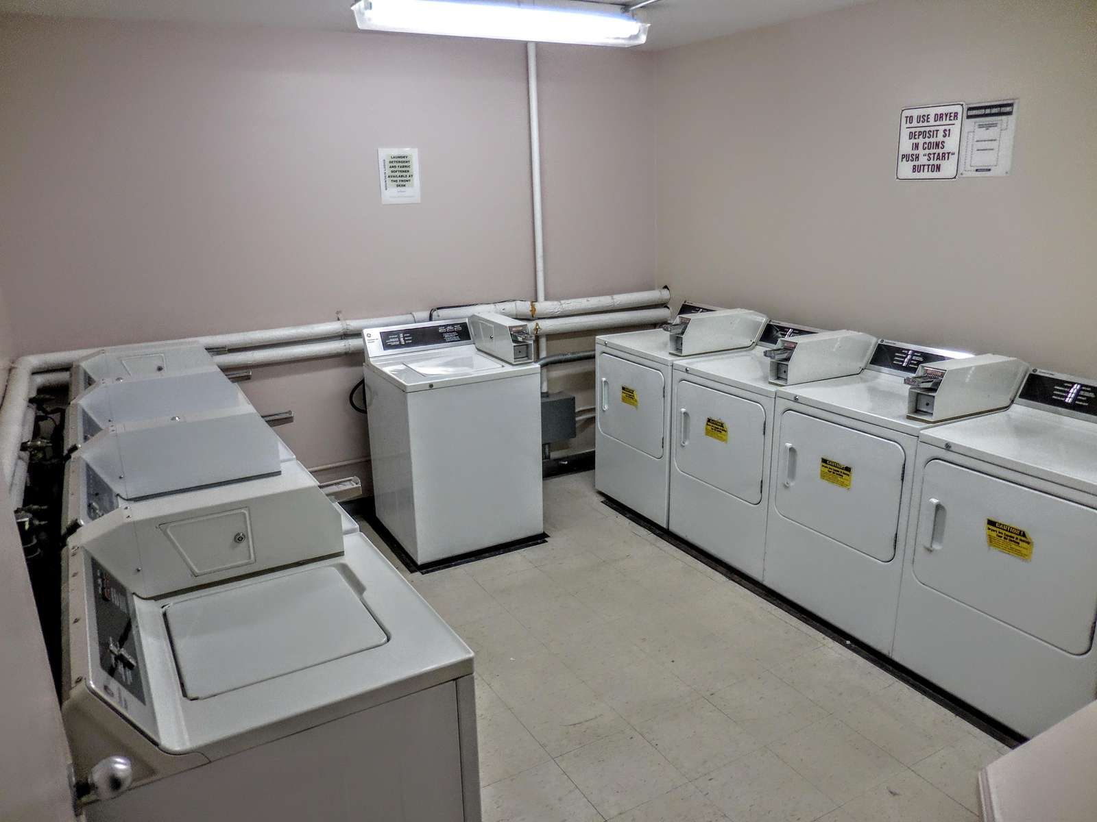 Coin-operated laundry facilities located down the hall from ML168