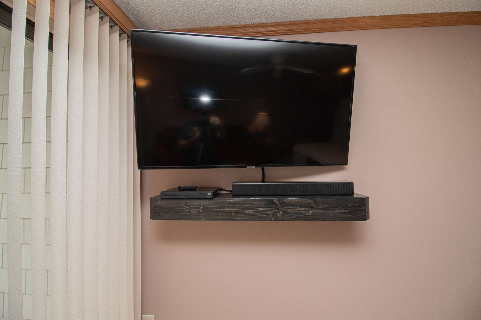 Flat-screen TV with free DISH network and HBO!