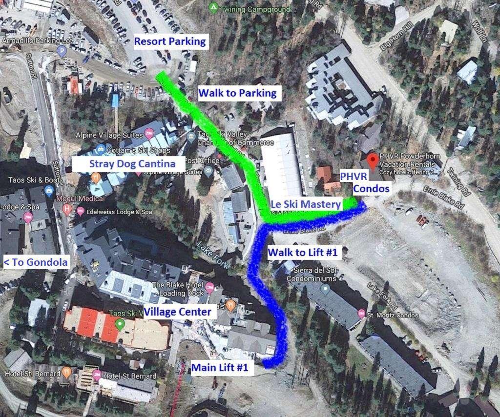 Our Location 5 Ernie Blake Road, Taos Ski Valley, NM 87525