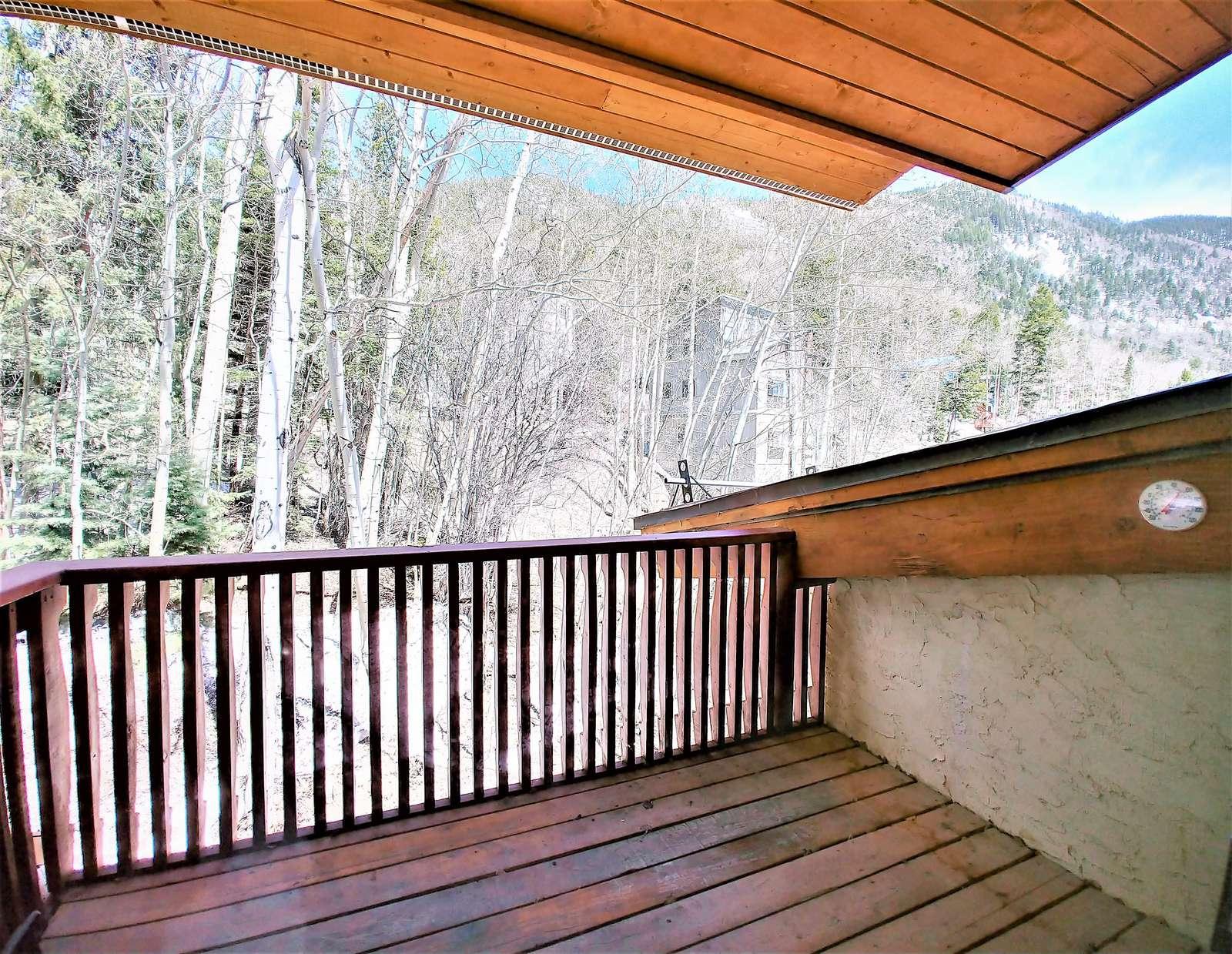Balcony with mountain views
