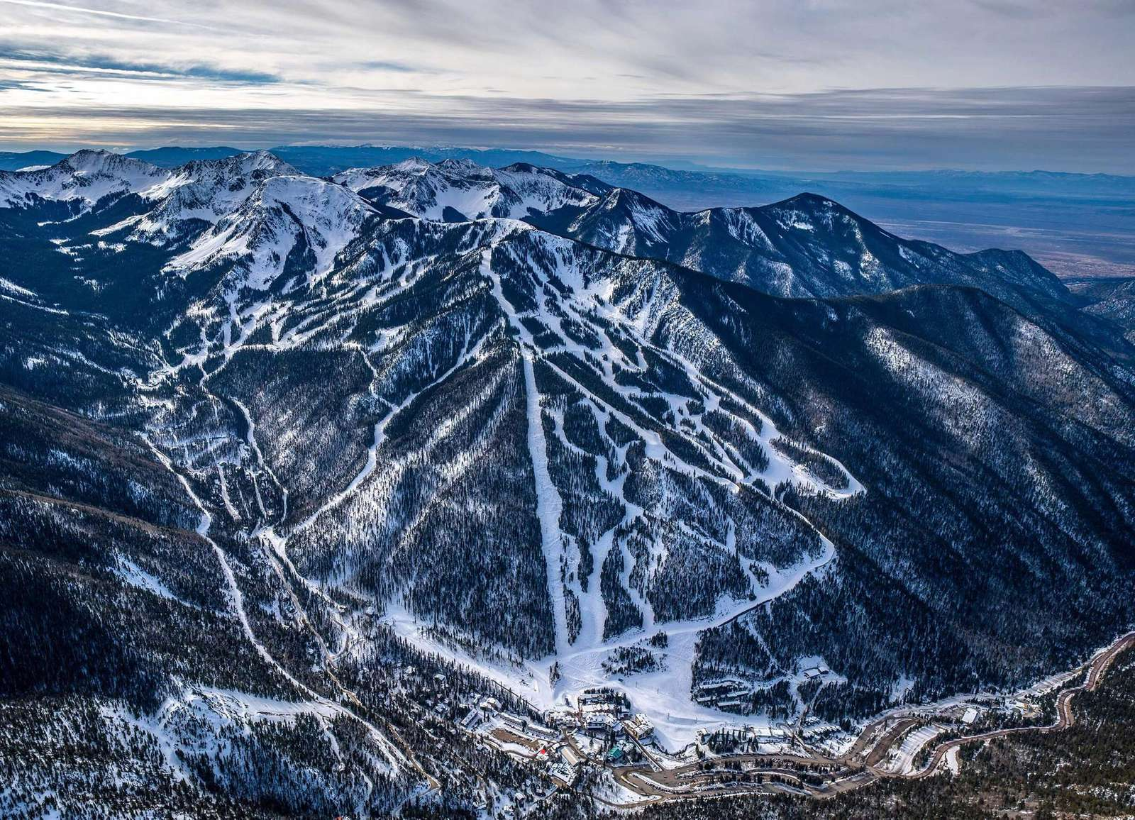 Taos Ski Valley Areal View