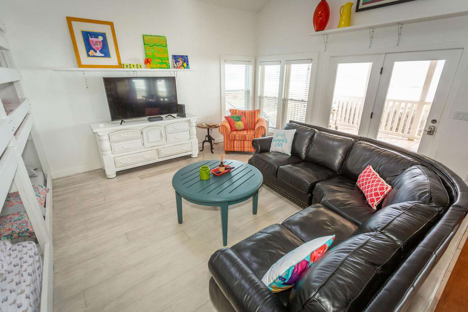 family room with large views of the gulf