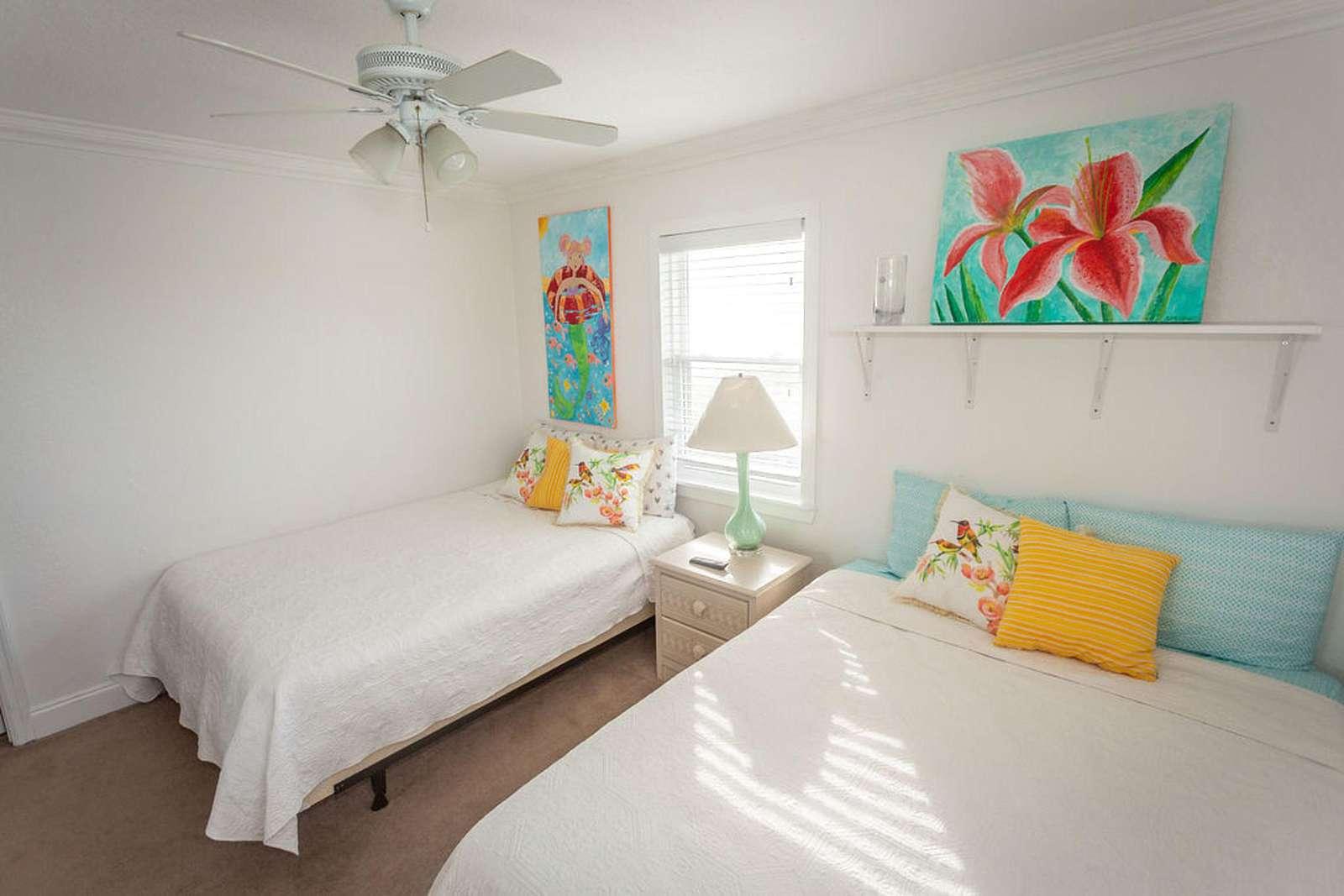Br # 3 has two queen beds, flat screen, ceiling fan