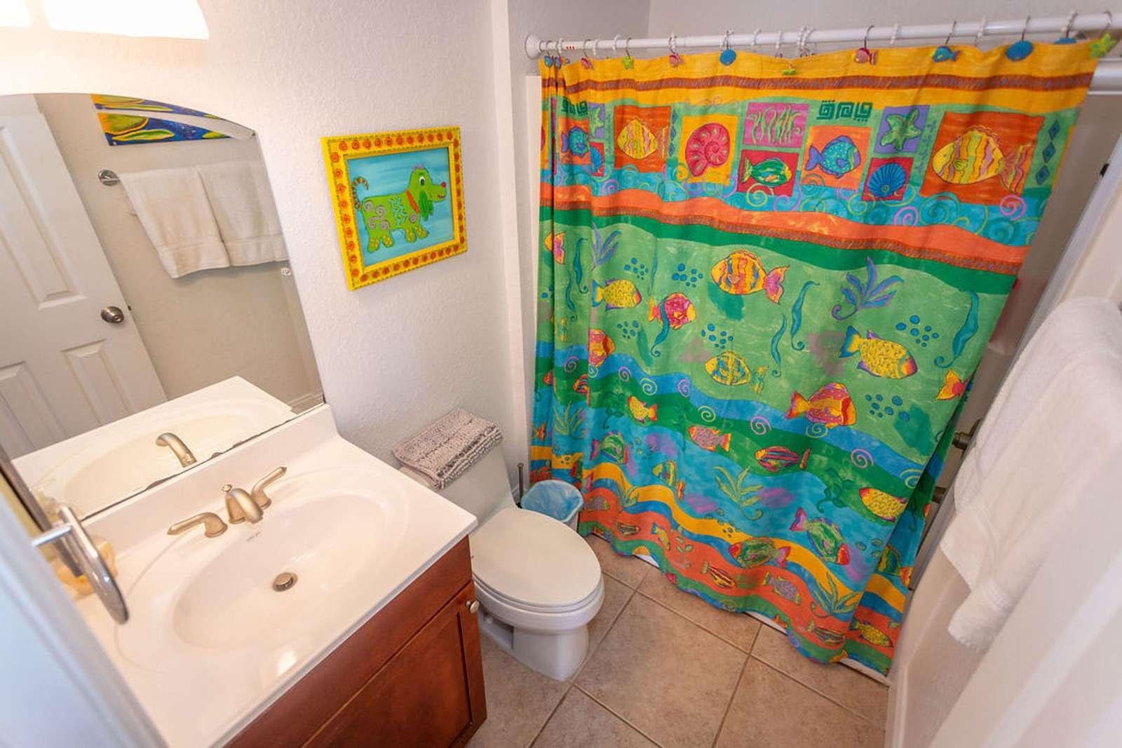 Bathroom # 3 has tub/shower combination