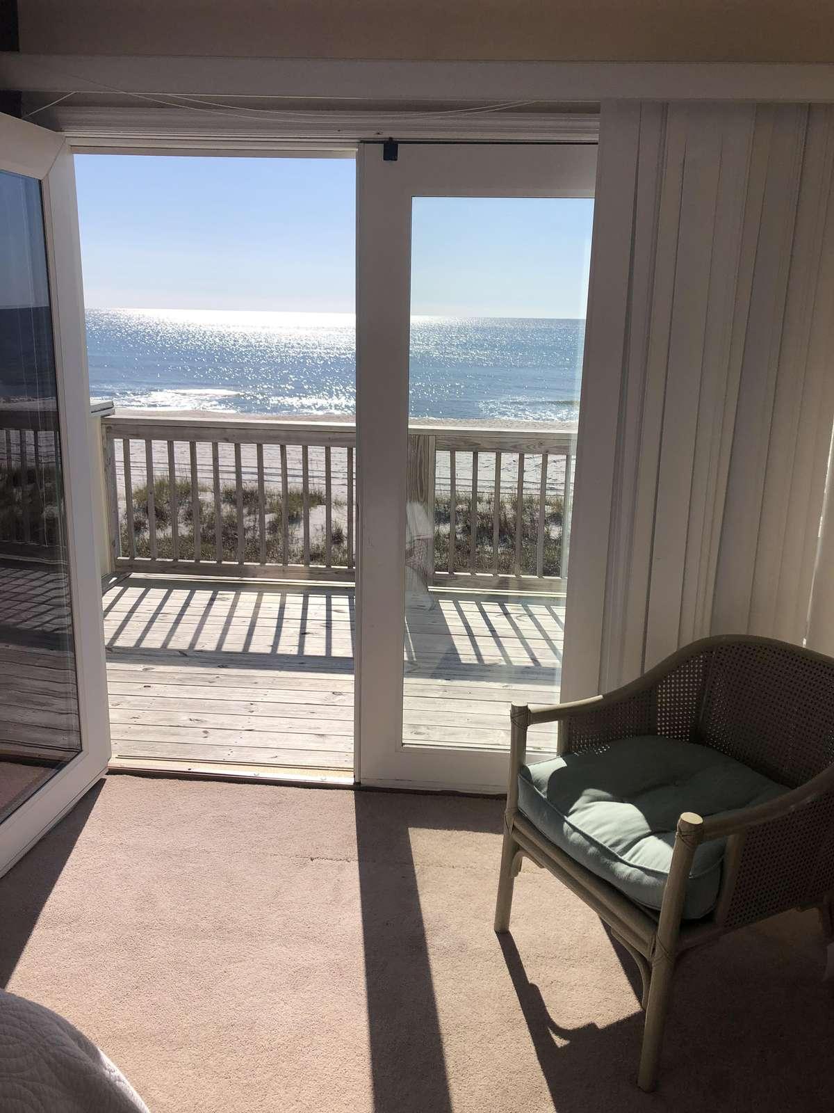 Deck off the master bedroom # 2 overlooking ocean