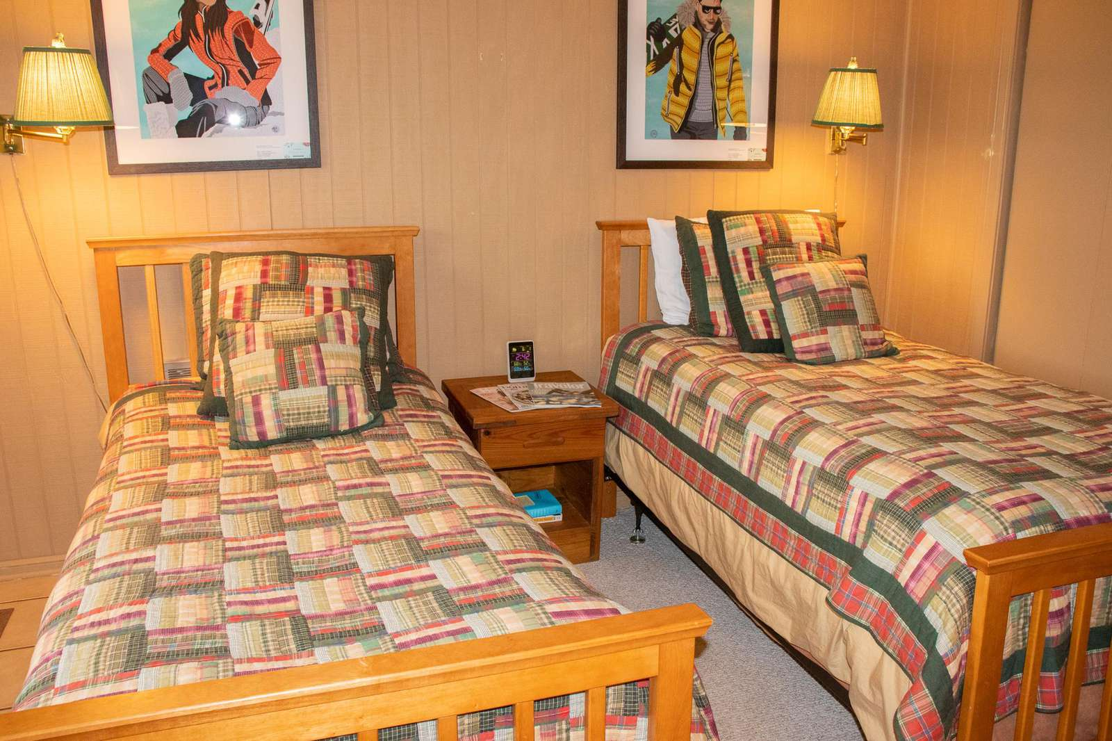 There is a 3rd bedroom off of the living room; two (2) twin beds and an accordion wall that closes off the room.