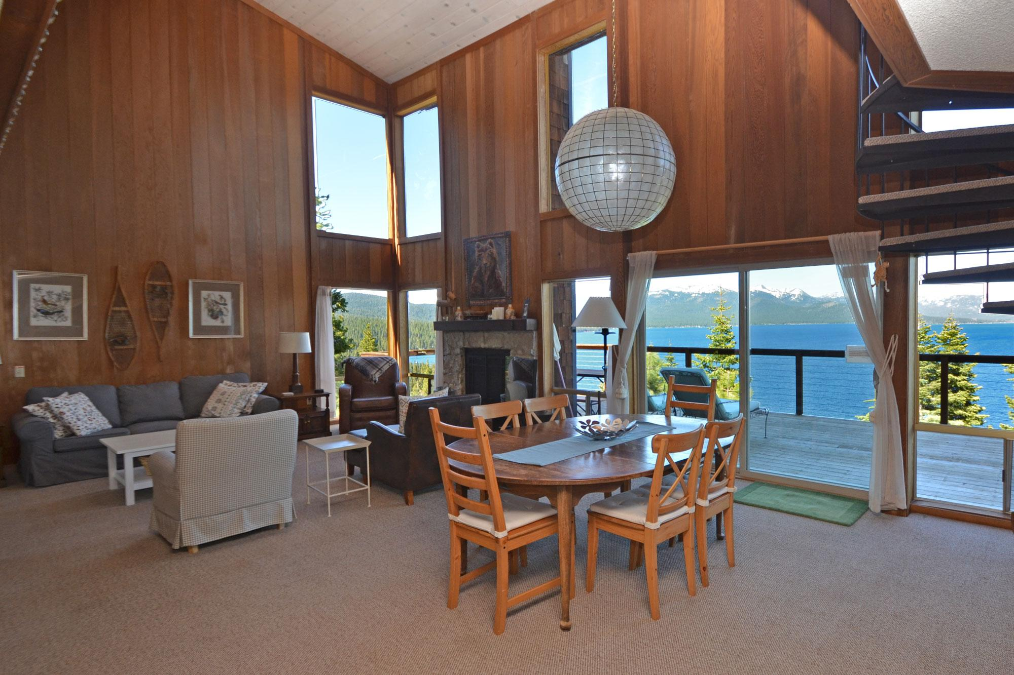 Dining Area with Great Views of Lake Tahoe