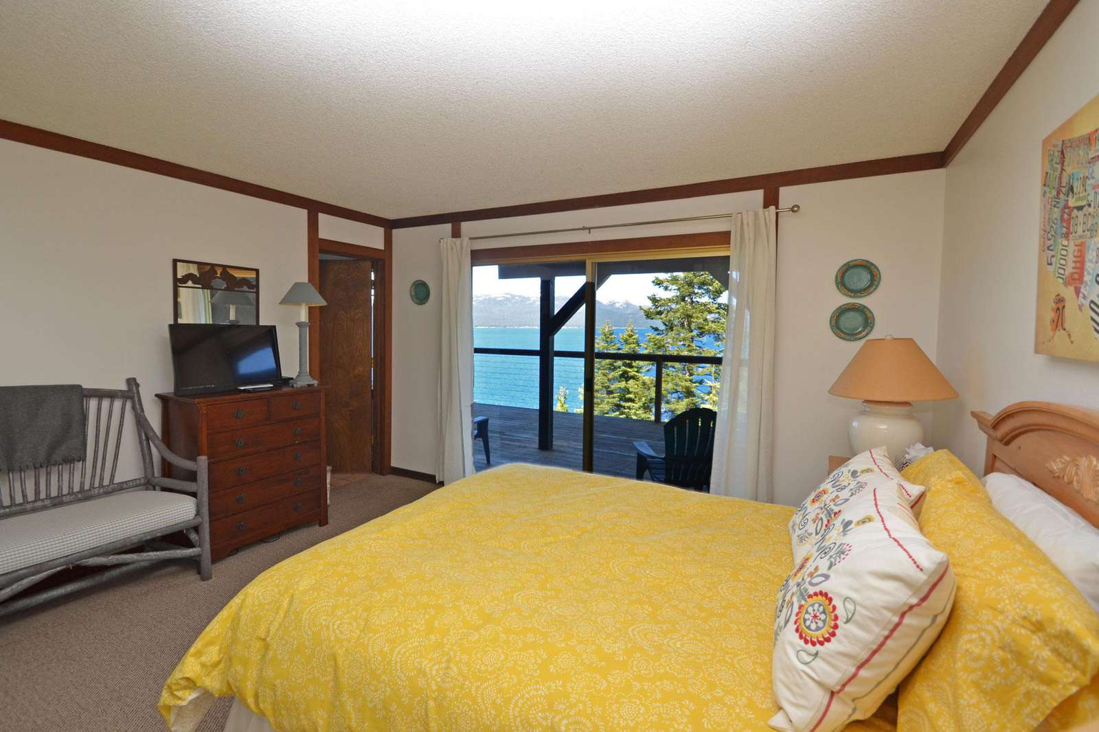 Master Bedroom with Views of Lake Tahoe