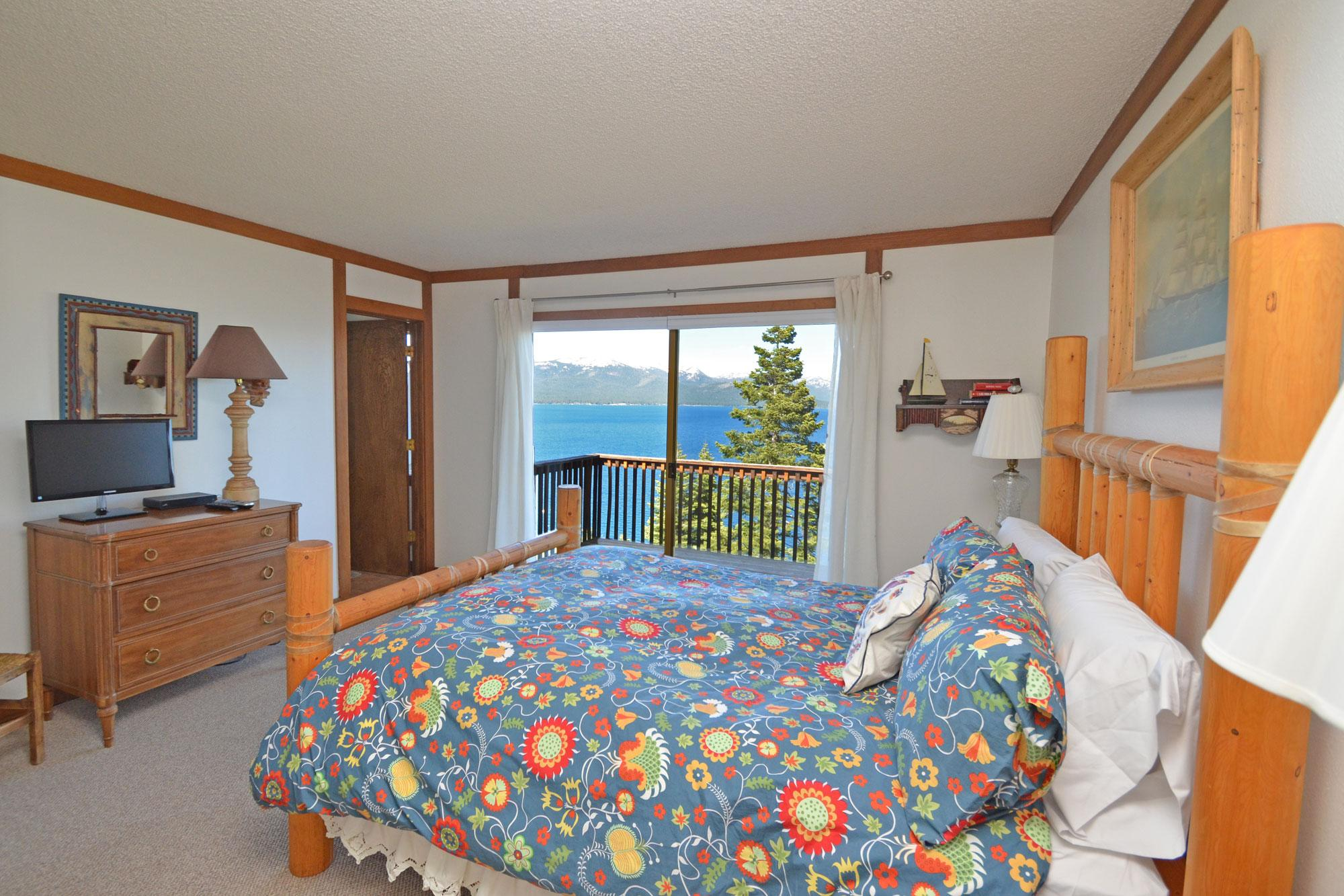 2nd Master Bedroom with Views of Lake Tahoe