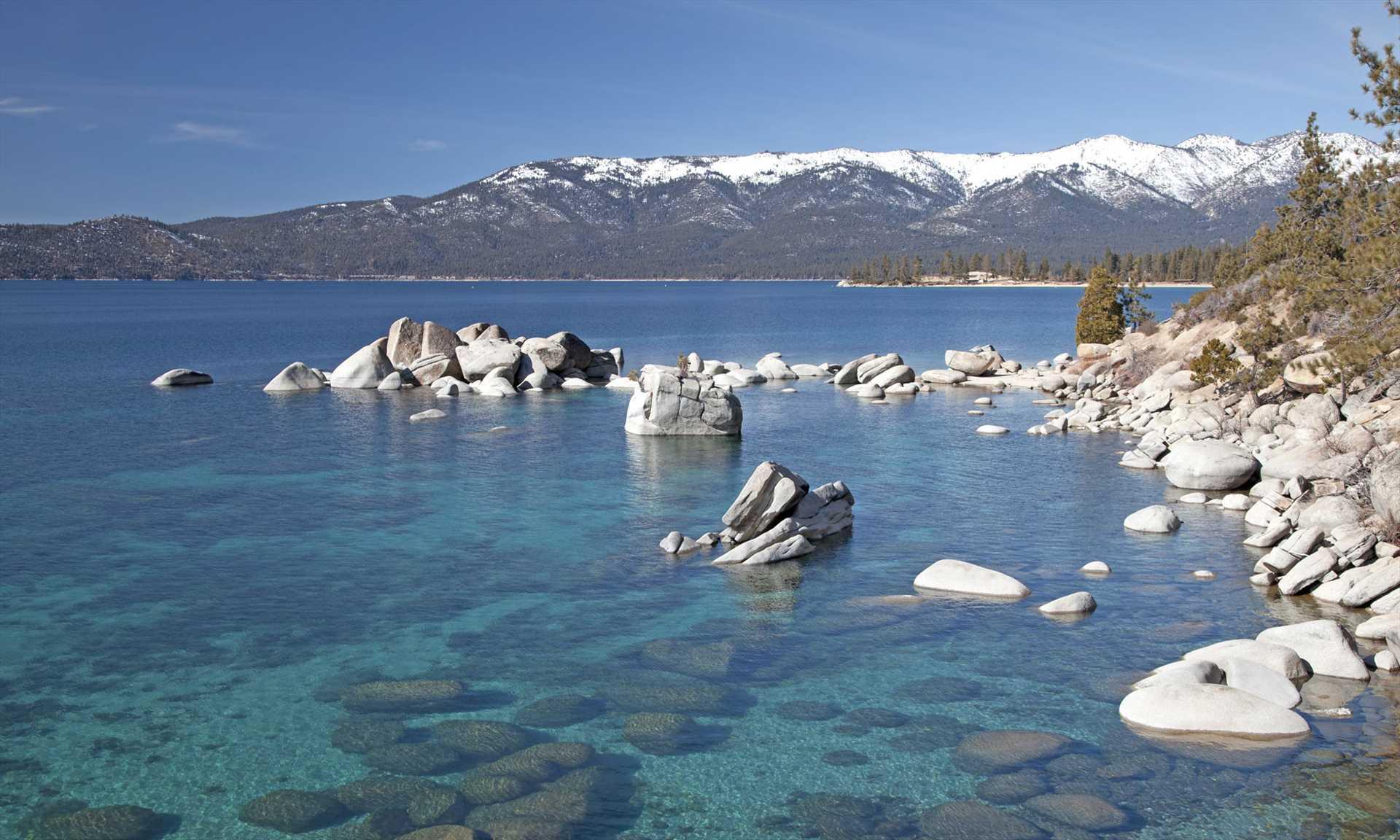 Playing on Lake Tahoe