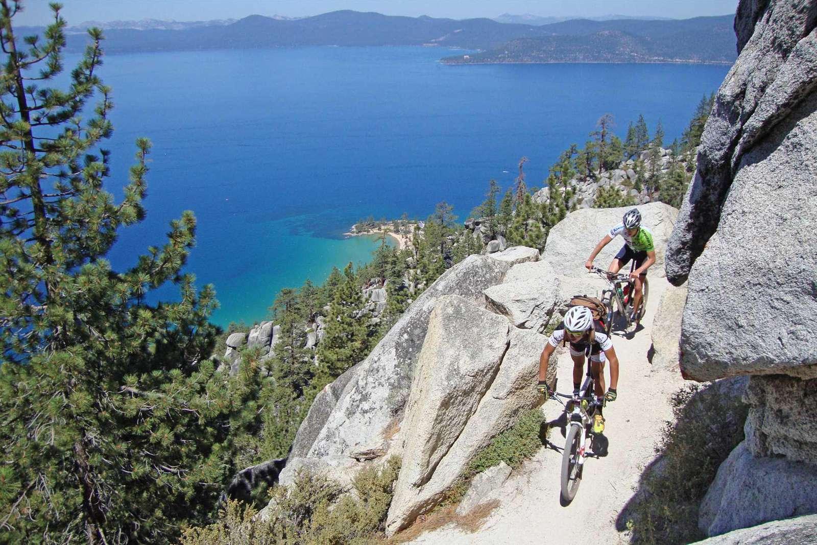 Tahoe Flume Trail on East Shore