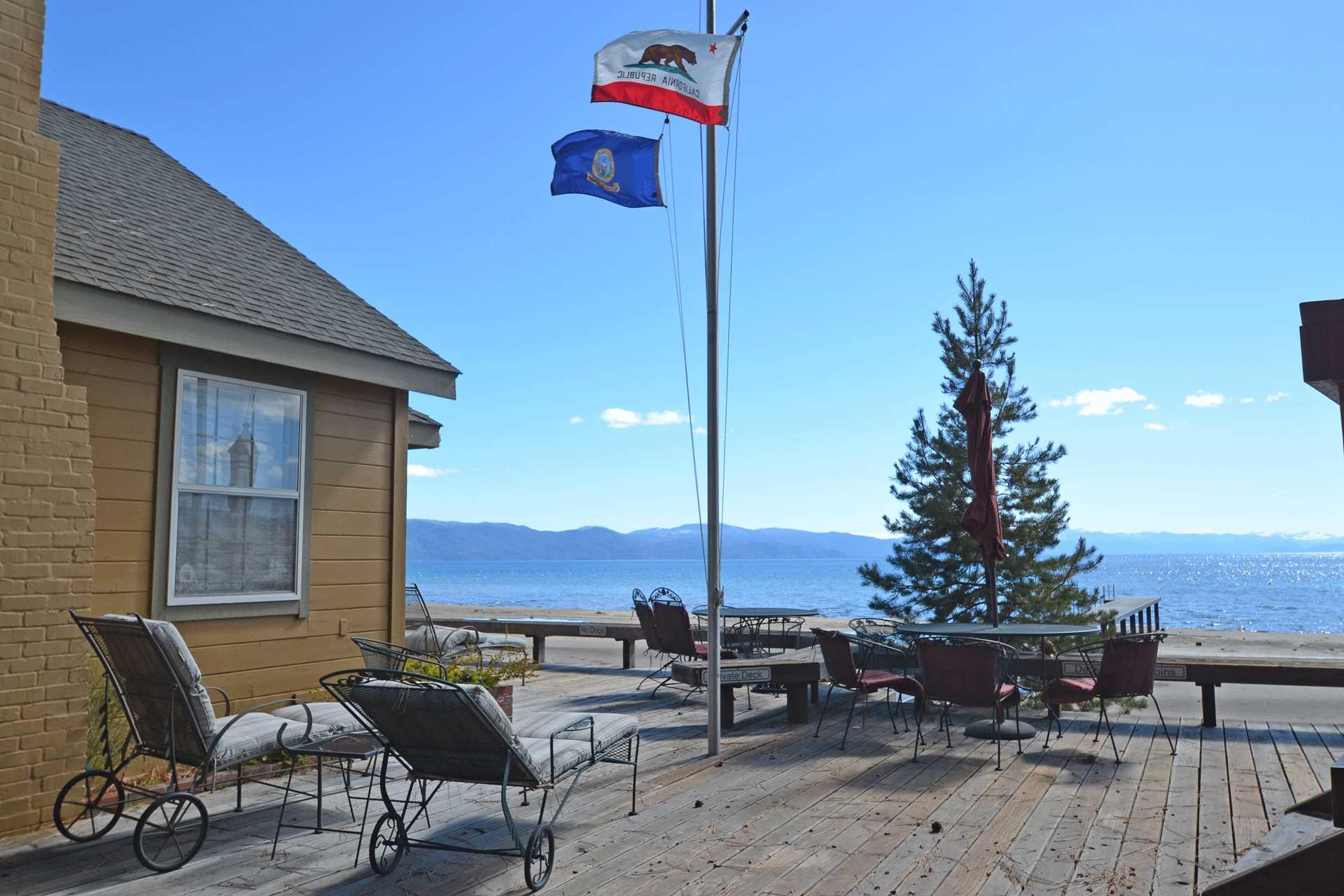 Common Area over looking Lake Tahoe