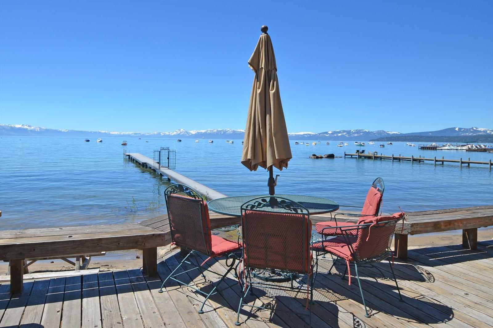 Deck over looking Lake Tahoe