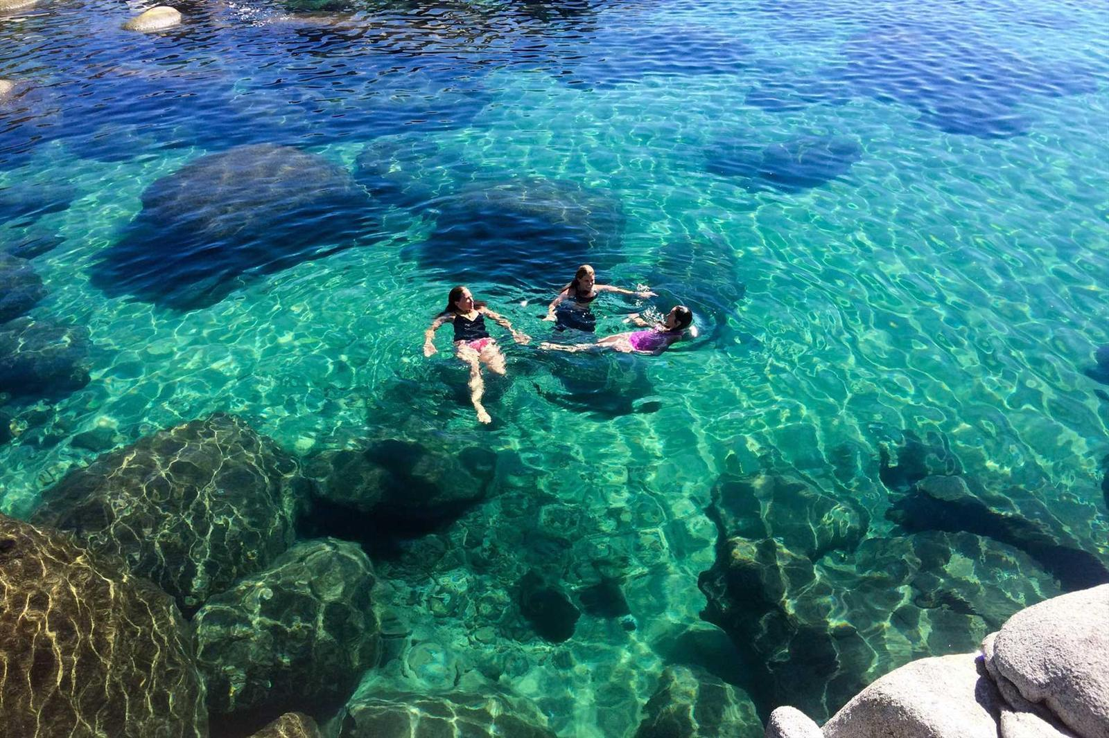 Playing at Lake Tahoe