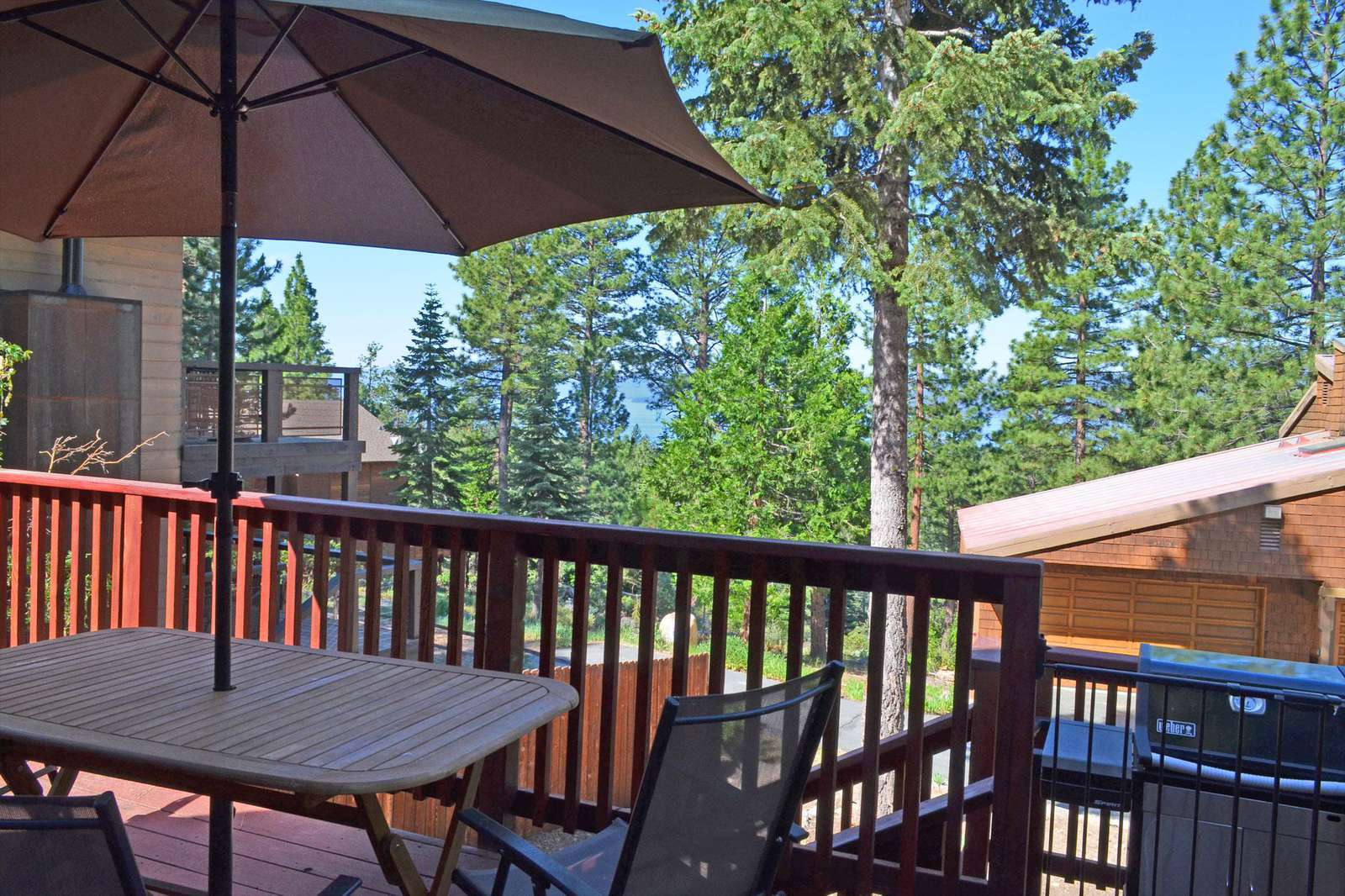 Back Deck with a view of Lake Tahoe