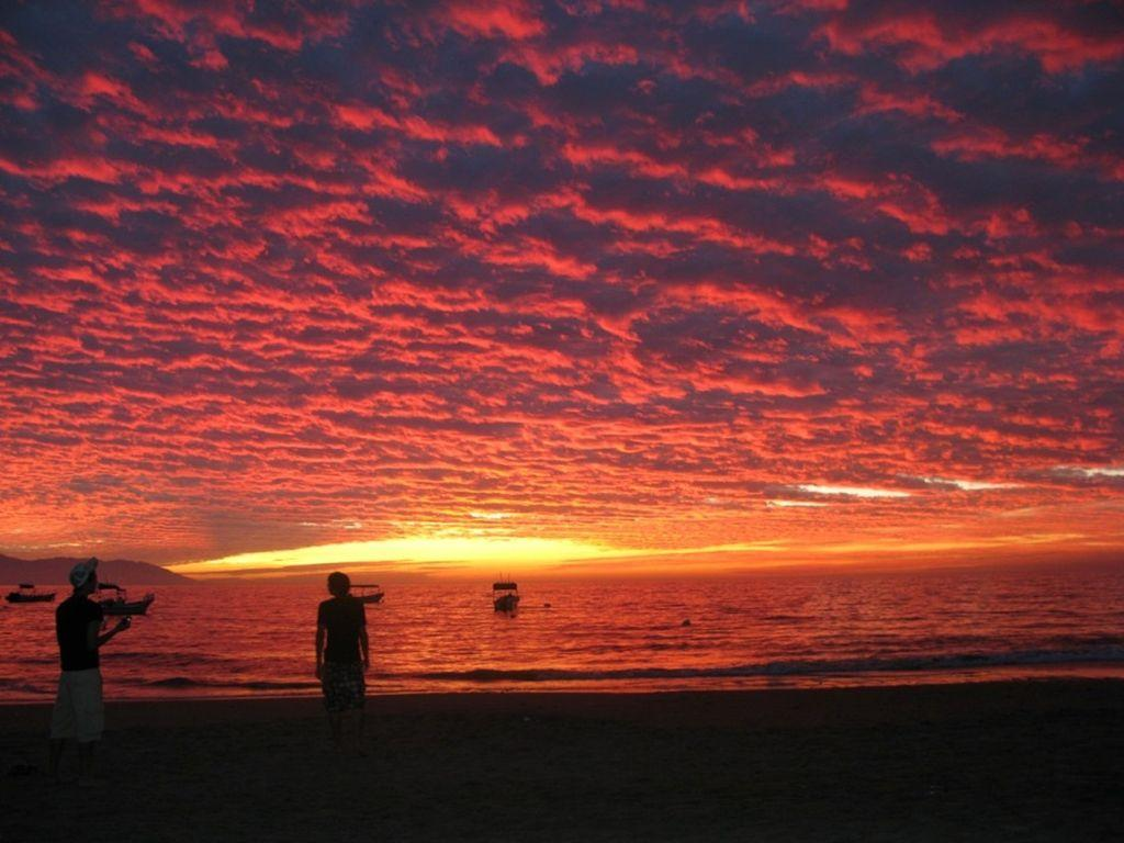 Magnificent Sunsets at los Muertos Beach only 2 blocks away from your unit
