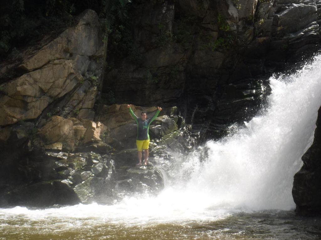 One of Yelapas waterfall, 45 minute ride on water taxi from Olas Altas pier