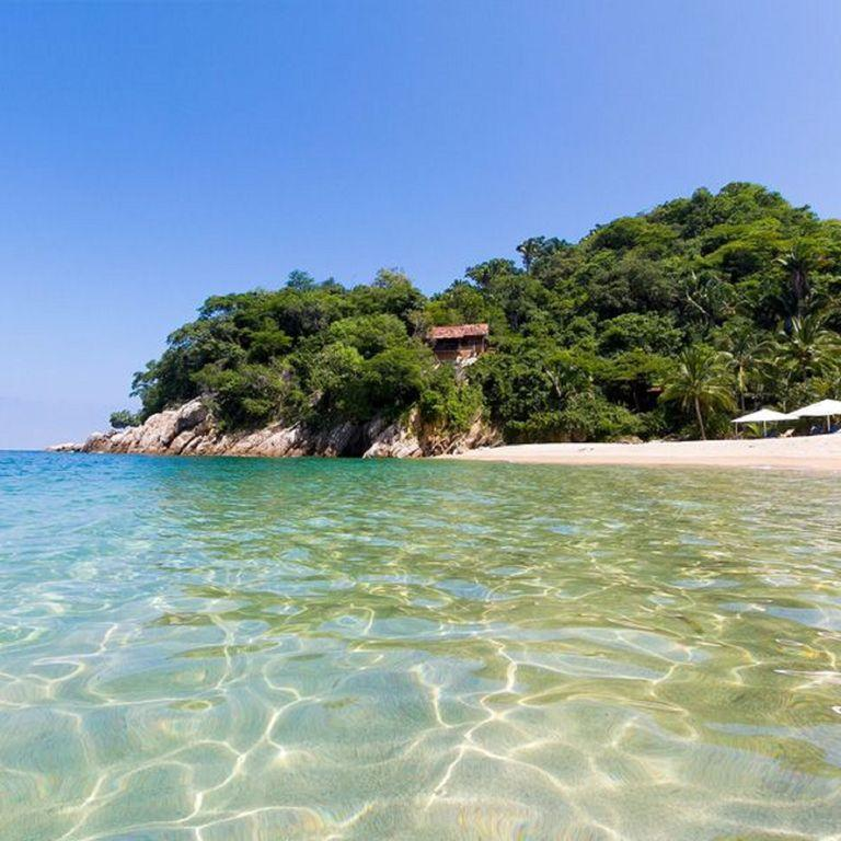 Majahuitas Private Beach, from olas altas pier on water taxi, 40 minutes away.