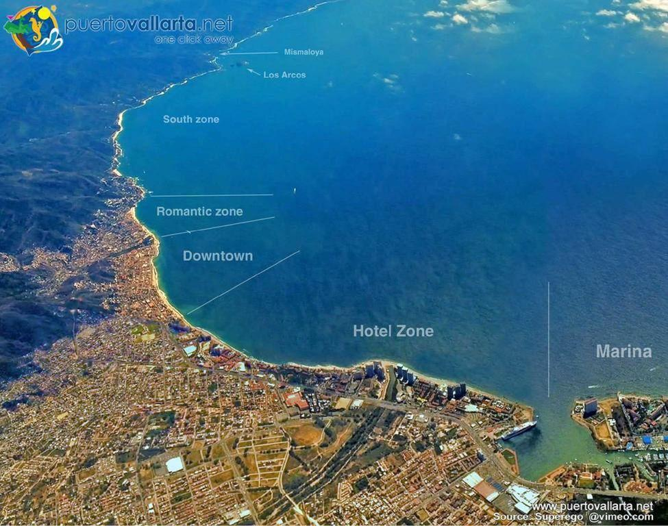 Puerto Vallarta city zones, your unit is located in the Romantic Zone.