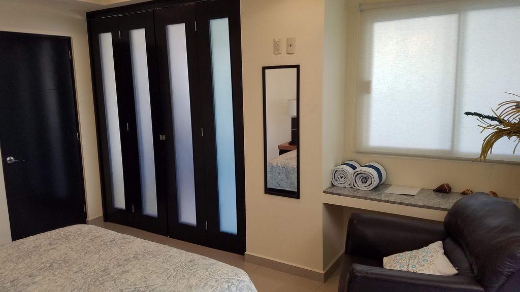 Folding door's for privacy in second bedroom