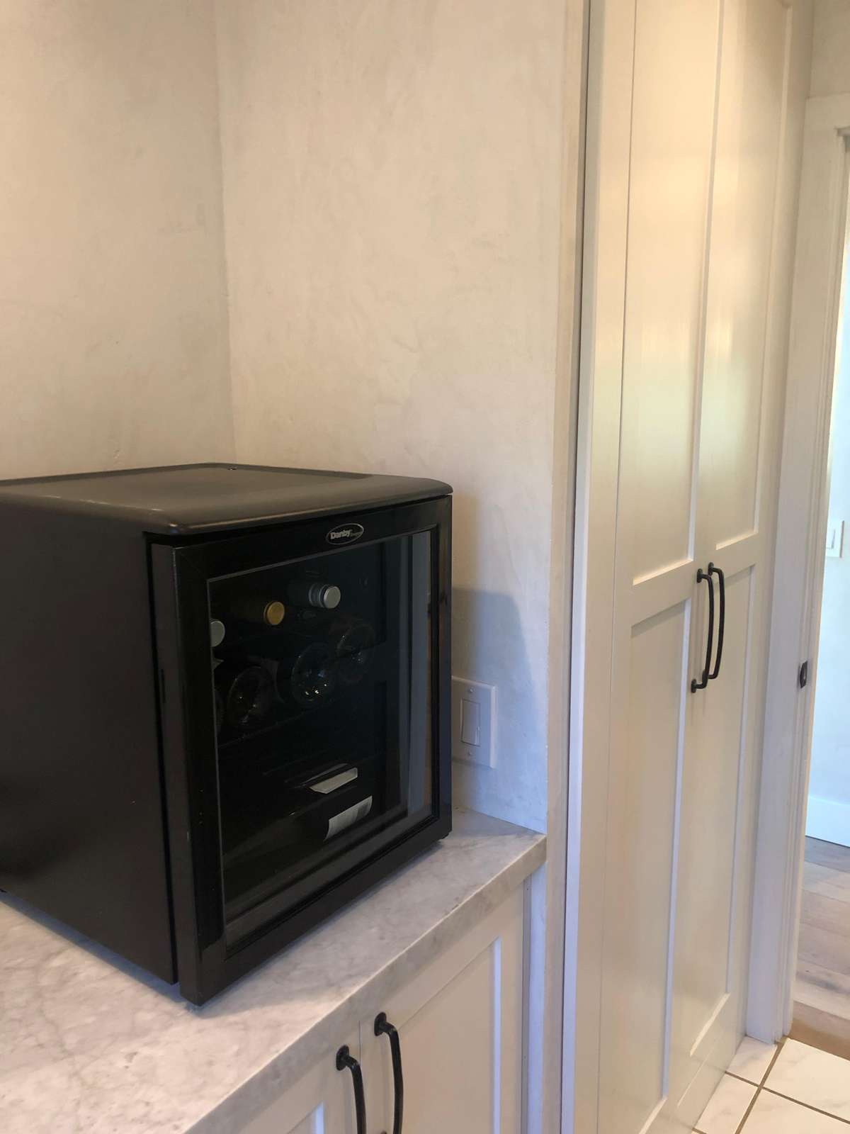 Small Wine Refrigerator in Pantry Area