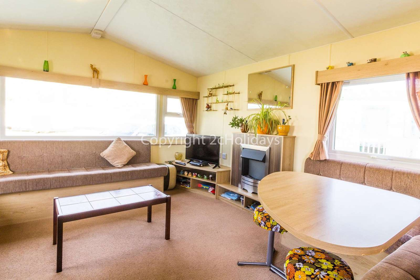 Includes a great size double sofa bed in the lounge