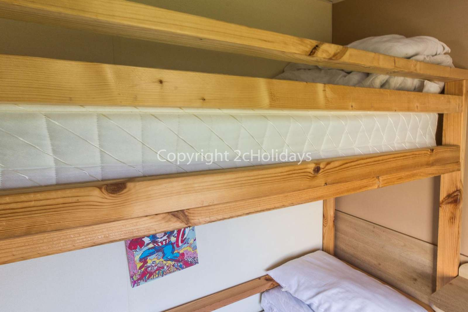 Exciting bunk beds in the triple room!