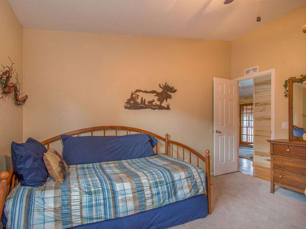 Bedroom one - main house - trundle bed.