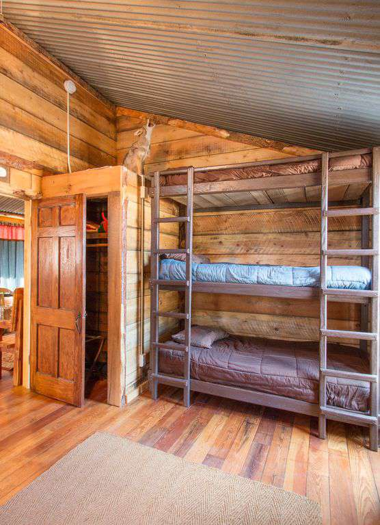 Bunk house - room with triple bunk.